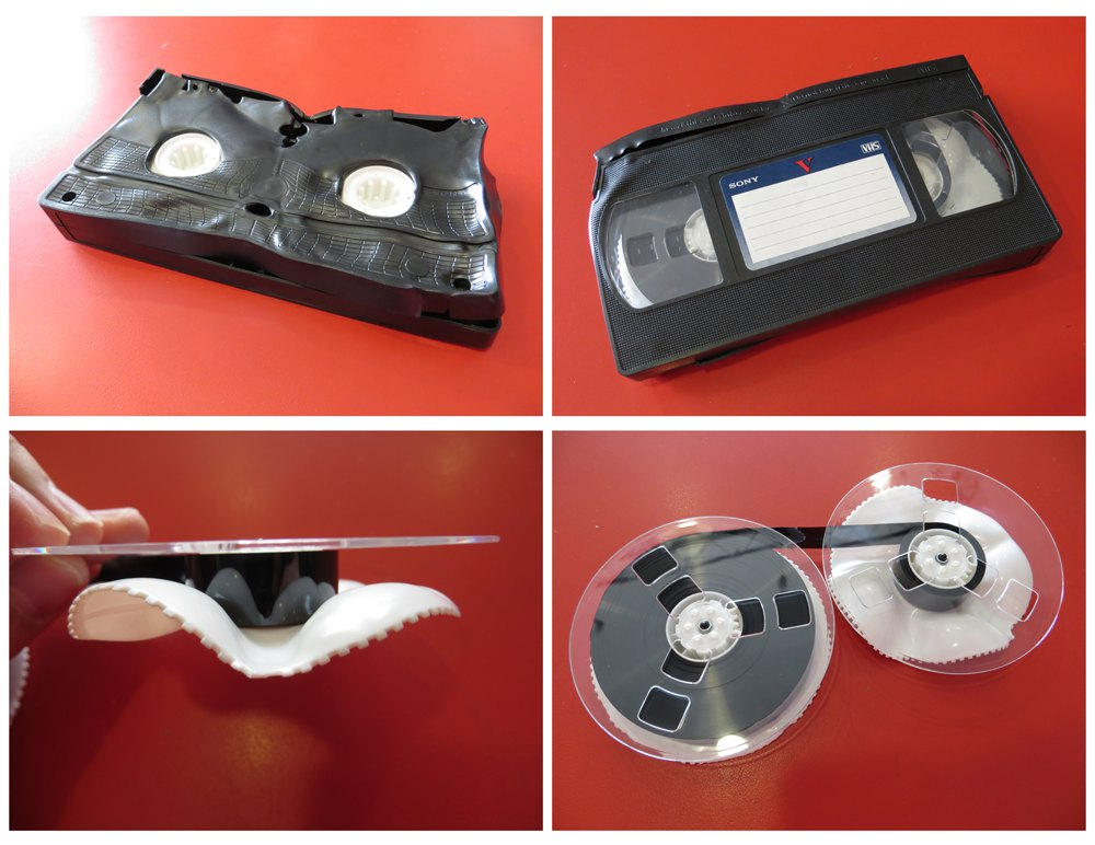 Melted VHS Tape