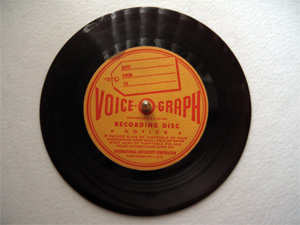 78rpm record recorded at home in 1946